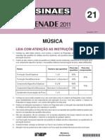 Enade - Prova -  2011