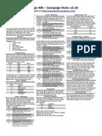 1p40k - Campaign Rules v2.18