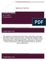 competency reflections