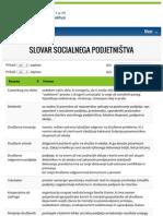 Slovar Socialnega Podjetništva – Fsp.si 2015
