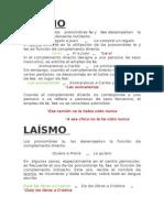 Leísmo, Laísmo y Loísmo