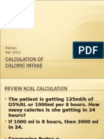 Calculation of Kcal