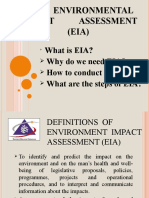 ENVIRONMENTAL IMPACT ASSESSMENT (MSM3208) LECTURE NOTES 1-What is EIA