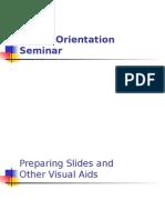 Visual and Oral Presentation