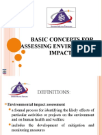 ENVIRONMENTAL IMPACT ASSESSMENT (MSM3208) LECTURE NOTES 2-Basic Concepts for Assessing Environmental Impacts