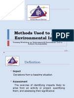 ENVIRONMENTAL IMPACT ASSESSMENT (MSM3208) LECTURE NOTES 3-Methods Used to Assess Environmental Impacts