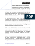 Balseiro Pablo Desarrolla Una Estrategia de Capital Relacional