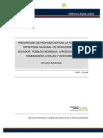 Estrategia Nacional de Biodiversidd Ecuador