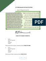 Surat Perjanjian Hutang Piutang Ringkas Cara Islam Secara Ansuran