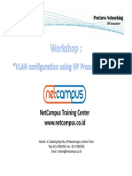 Workshop Vlan Procurve