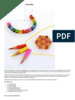 DIY_ Colored Pencil Jewelry