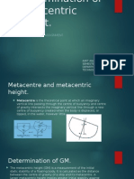 Determination of Metacentric Height