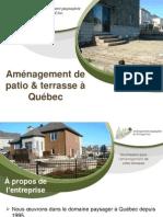Construction de votre patio ou terrasse à Québec, clé en main