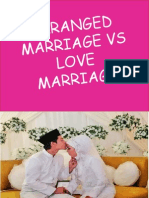 Arranged v Love Marriage