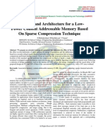 Algorithm and Architecture for a Low-Power Content Addressable Memory Based On Sparse Compression Technique