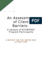 An Assessment of Client Barriers_Final
