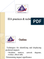 ENVIRONMENTAL IMPACT ASSESSMENT (MSM3208) LECTURE NOTES 6-EIA Practices & Techniques