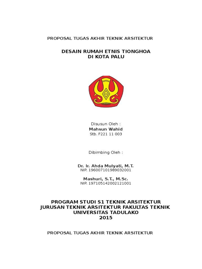 Cover Pra Proposal Tugas Akhir Teknik Arsitektur Fix