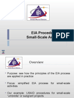 ENVIRONMENTAL IMPACT ASSESSMENT (MSM3208) LECTURE NOTES 8-EIA Procedures for Small-Scale Activities