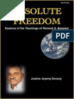 Absolute Freedom- The Essence of Teachings of Ramesh S. Balsekar