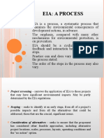 ENVIRONMENTAL IMPACT ASSESSMENT (MSM3208) LECTURE NOTES 10-EIA, a Process