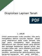 Tugas Mektan II - Eksploitasi Lapisan Tanah