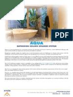Aqua Bathroom Ceiling Speaker