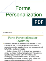 Form Personalization