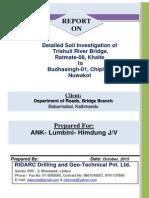 Revised Geo Technical Reports of Trishuli River Bridge at Nuwakot