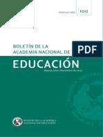 Boletin de la Academia Nacional de Educacion, Número 100 Nov 2015