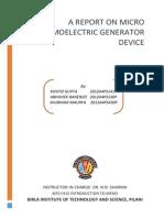 Micro Thermoelectric Generator
