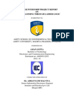 Industrial Training on PLC programmable logic controlle