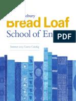 Bread Loaf S.O.E Brochure