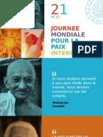 JOURNEE MONDIALE POUR LA PAIX INTERIEURE