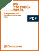 Programa de Ciudadanos para las Generales 2015