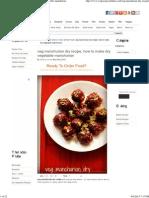 Veg Manchurian Dry Recipe, How to Make Dry Vegetable Manchurian