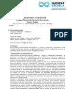 Informes Jornadas Institucionales 30-04-2015
