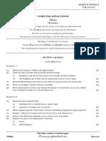 Computer Applications ICSE Sample Paper 6
