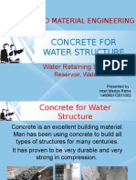 Concrete for Water Structure