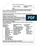 5e Ngss Lesson Planning Template 0 Lesson Plan Habitat