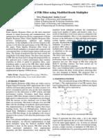 Efficient Design of FIR Filter using Modified Booth Multiplier