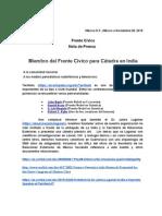 Frente Civico Boletín de Prensa 28-11-2015