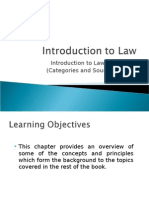 Categories and Sources of Law
