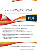 Communication Skills - Module 1