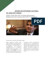 Noticia proyecciones economicas para el 2016
