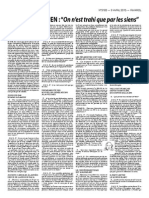Entretien JMLP, Rivarol 3183