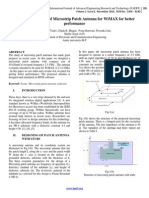 Design and Analysis of Microstrip Patch Antenna for WiMAX for better performance