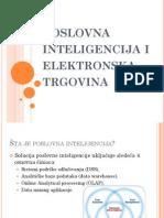 Poslovna Inteligencija i Elektronska Trgovina