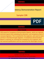 Format of CDR- Competency Demonstration Report
