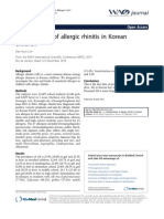 Epidemiology of Allergic Rhinitis in Korean